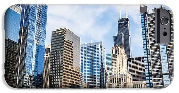 Sears Tower iPhone Cases - High-Res Picture of Chicago Skyline City Buildings iPhone Case by Paul Velgos