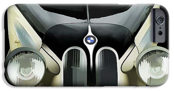 German Classic Cars Digital Art iPhone Cases - High Style iPhone Case by Douglas Pittman