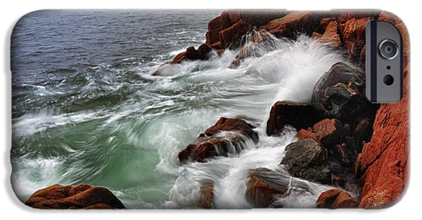 Tide iPhone Cases - HIgh Tide at Bass Harbor Head iPhone Case by Rick Berk