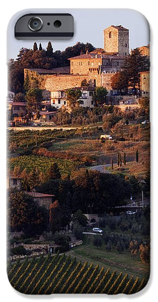 Hill Town of Panzano at Dusk iPhone Case by Jeremy Woodhouse