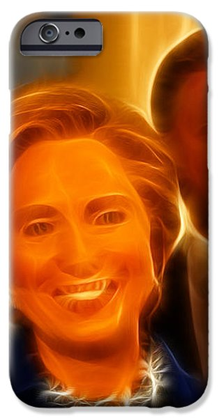 Hillary Rodham Clinton - United States Secretary of State - Bill Clinton iPhone Case by Lee Dos Santos
