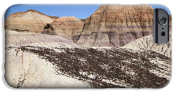 Petrified Forest Arizona iPhone Cases - Hills And Stripes iPhone Case by Adam Jewell