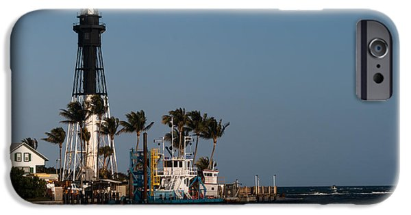 Marine iPhone Cases - Hillsboro Inlet Light iPhone Case by Ed Gleichman