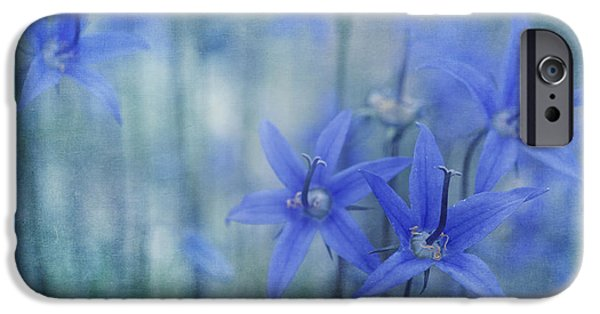 Close Up iPhone Cases - Hillside Blues iPhone Case by Priska Wettstein