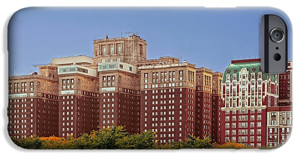 Interior Scene iPhone Cases - Hilton Chicago and Blackstone Hotel iPhone Case by Christine Till