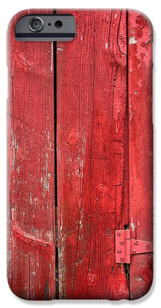 Red Barn iPhone Cases - Hinge on a Red Barn iPhone Case by Steve Gadomski
