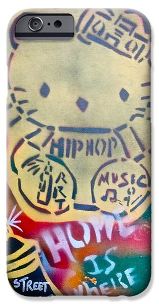 Occupy Paintings iPhone Cases - Hip Hop Kitty iPhone Case by Tony B Conscious