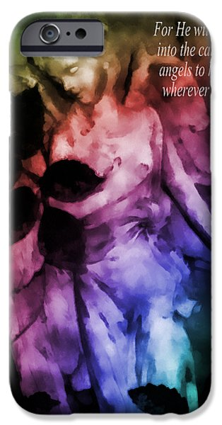His Angels 2 iPhone Case by Angelina Vick