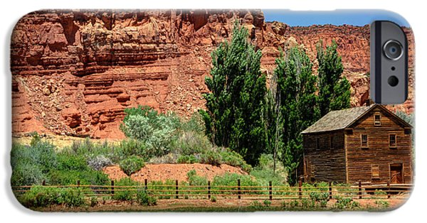Grist Mill iPhone Cases - Historic Bicknell Grist Mill - Utah iPhone Case by Gary Whitton
