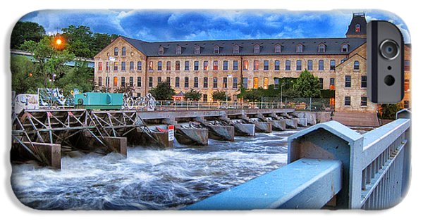 Appleton Photographs iPhone Cases - Historic Fox River Mills iPhone Case by Shutter Happens Photography