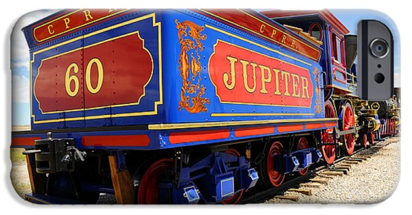 Destiny iPhone Cases - Historic Jupiter Train - Promontory Point National Historic Park iPhone Case by Gary Whitton