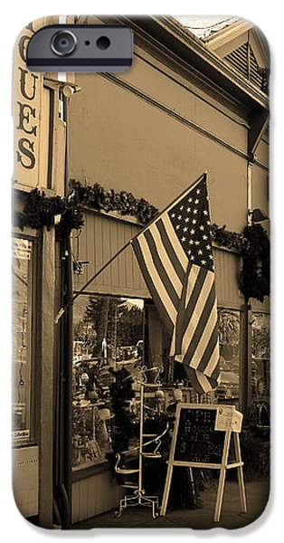 Historic Niles District in California Near Fremont . Main Street . Niles Boulevard . 7D10701 . sepia iPhone Case by Wingsdomain Art and Photography