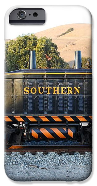 Historic Niles Trains in California . Old Southern Pacific Locomotive . 7D10867 iPhone Case by Wingsdomain Art and Photography