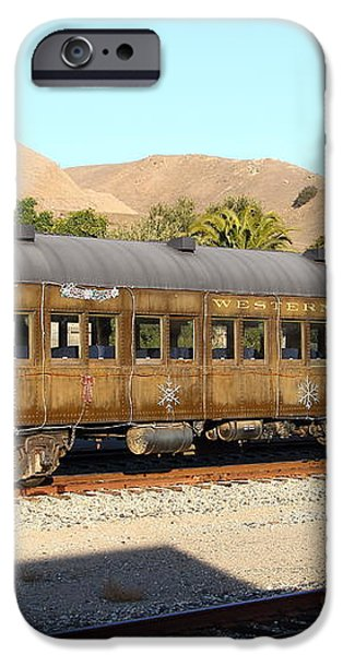 Historic Niles Trains in California . Old Western Pacific Passenger Train . 7D10836 iPhone Case by Wingsdomain Art and Photography