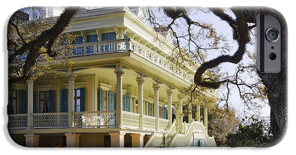 Restored Plantation iPhone Cases - Historic Plantation Manor Home iPhone Case by Jeremy Woodhouse