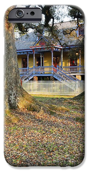 Restored Plantation iPhone Cases - Historic Plantation Slave Quarters iPhone Case by Jeremy Woodhouse