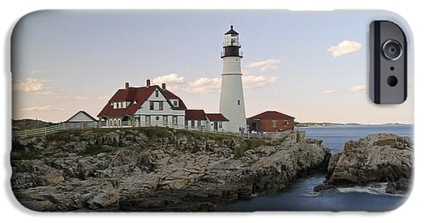 Maine Seacoast iPhone Cases - Historic Portland Head Light iPhone Case by Juergen Roth