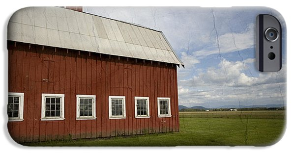 Farm iPhone Cases - Historic Red Barn iPhone Case by Bonnie Bruno