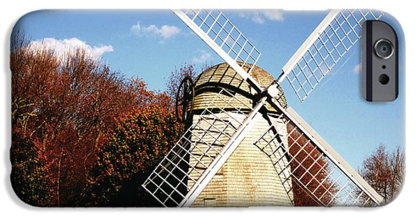 Historical iPhone Cases - Historical Windmill iPhone Case by Lourry Legarde