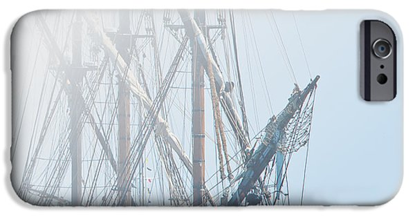 Pirate Ship iPhone Cases - HMS Bounty iPhone Case by Kenneth Albin