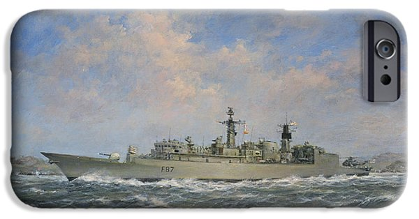 Navy iPhone Cases - H.M.S. Chatham Type 22 - Batch 3 iPhone Case by Richard Willis