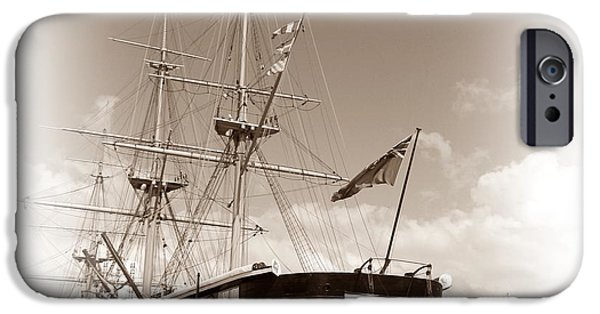Pirate Ships iPhone Cases - HMS Warrior iPhone Case by Sharon Lisa Clarke