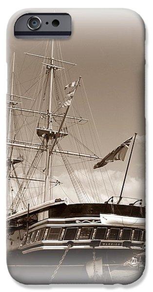 HMS Warrior iPhone Case by Sharon Lisa Clarke