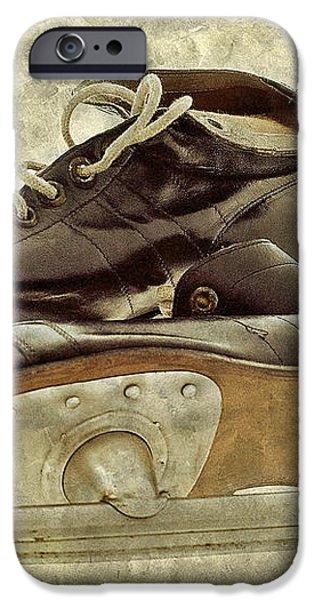 Hockey Boots iPhone Case by Dariusz Gudowicz