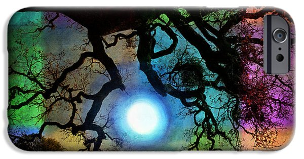 Surrealism Digital Art iPhone Cases - Holding the Moon iPhone Case by Laura Iverson