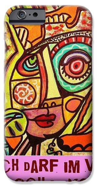 Hole In My Head - Yiddish iPhone Case by Sandra Silberzweig