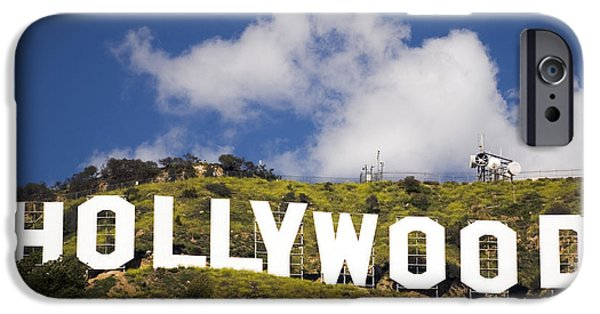 U.s.a. iPhone Cases - Hollywood Sign iPhone Case by Anthony Citro