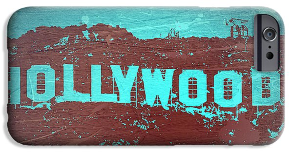 Celebrity Digital iPhone Cases - Hollywood Sign iPhone Case by Naxart Studio