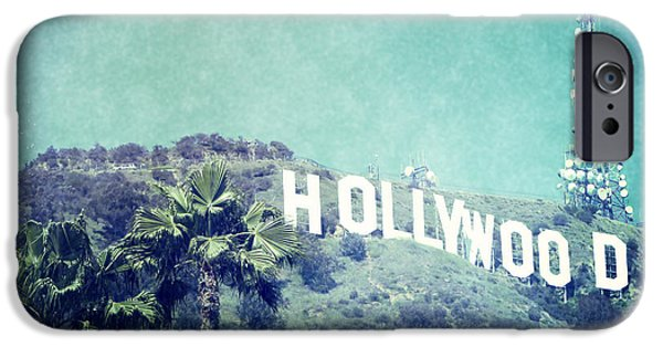 Sign iPhone Cases - Hollywood Sign iPhone Case by Nina Prommer