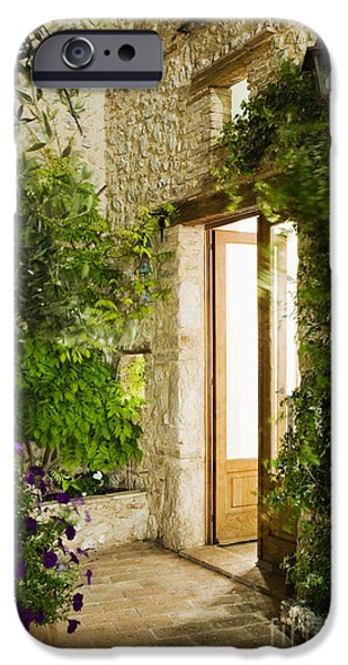 Home Entrance and Courtyard iPhone Case by Andersen Ross