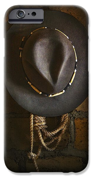 Hat iPhone Cases - Home from The Range iPhone Case by Ron Jones