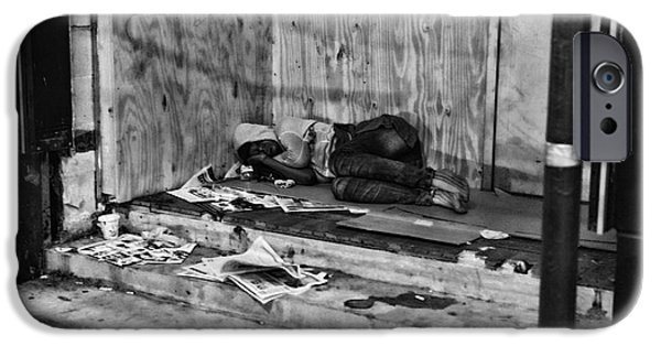 Homeless iPhone Cases - Homeless iPhone Case by Paul Ward