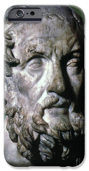 Statue Portrait iPhone Cases - HOMER (9th-8th CENTURY B.C.) iPhone Case by Granger