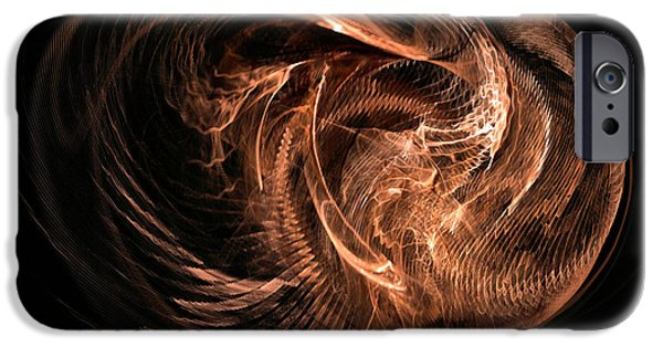 Abstract Expressionism iPhone Cases - Honeycomb of thoughts iPhone Case by Sipo Liimatainen
