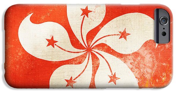 Backgrounds Pastels iPhone Cases - Hong Kong China flag iPhone Case by Setsiri Silapasuwanchai
