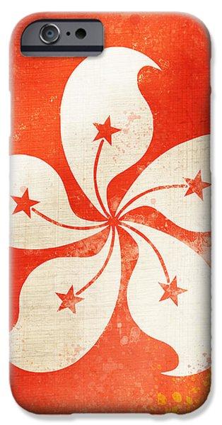 Hong Kong China flag iPhone Case by Setsiri Silapasuwanchai