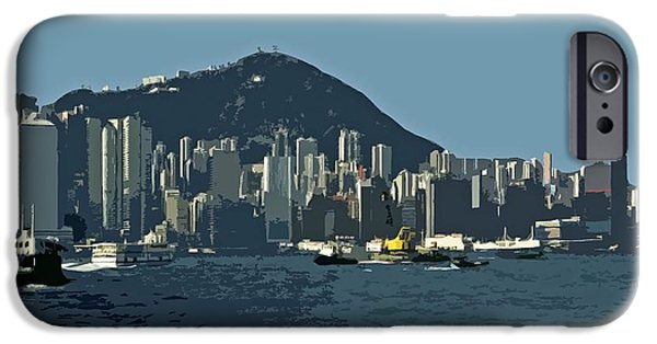 Architectur iPhone Cases - Hong Kong Island ... iPhone Case by Juergen Weiss