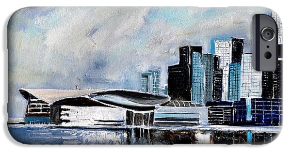 Hong Kong Paintings iPhone Cases - Hong Kong iPhone Case by Pol Ledent