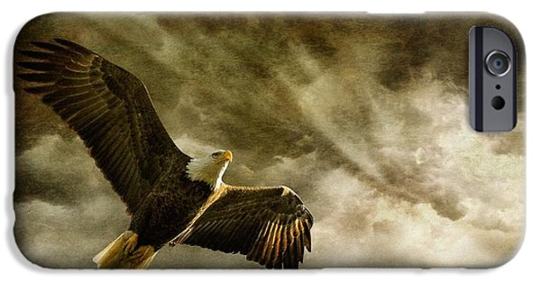 Eagle iPhone Cases - Honor Bound iPhone Case by Lois Bryan