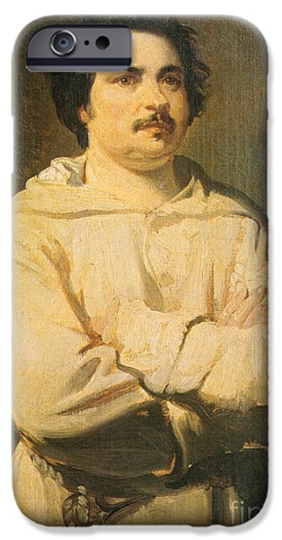 Honore De Balkzac, French Author iPhone Case by Photo Researchers