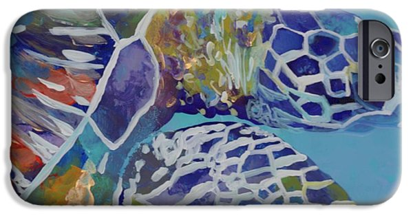 Sea iPhone Cases - Honu iPhone Case by Marionette Taboniar