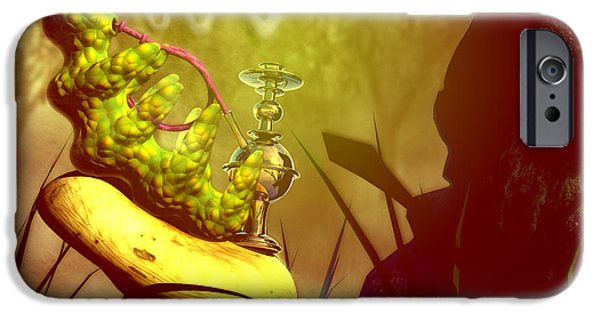 Hookah iPhone Cases - Hookah Smoking Caterpillar iPhone Case by Carol and Mike Werner
