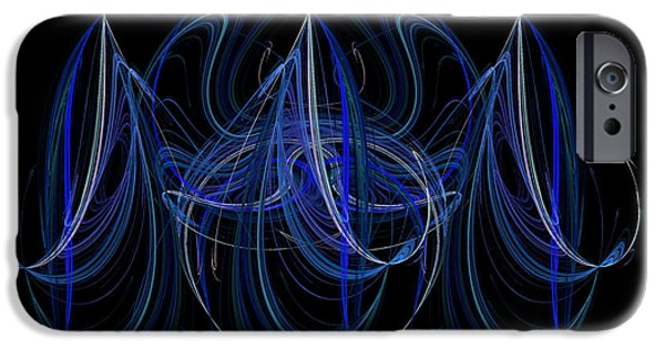 Artistic Fish Abstraction iPhone Cases - Hooked iPhone Case by Yvonne Johnstone