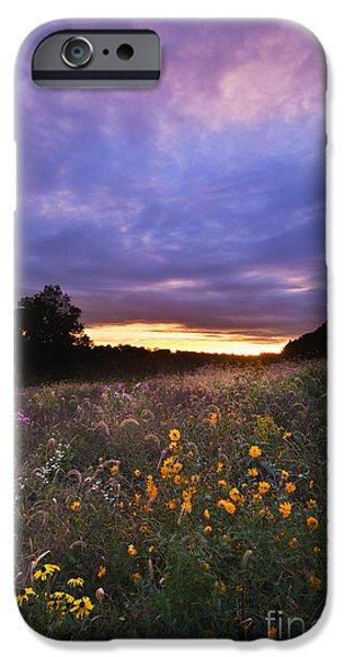 Hoosier Sunset - D007743 iPhone Case by Daniel Dempster