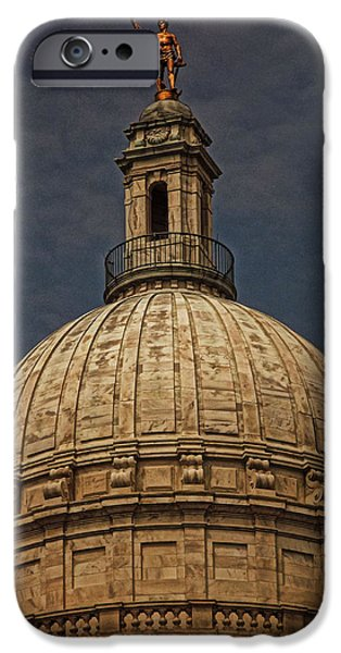 Capitol iPhone Cases - Independent Man II iPhone Case by Lourry Legarde