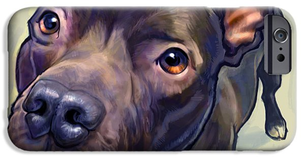 Animal Portraits iPhone Cases - Hope iPhone Case by Sean ODaniels